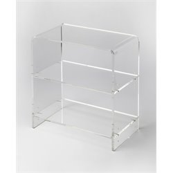 Butler Specialty Loft Bookcase in Clear Acrylic