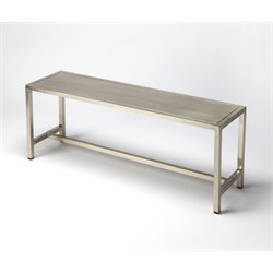 Butler Specialty Loft Bench in Silver