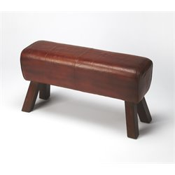 Butler Specialty Mountain Lodge Bench in Brown Leather