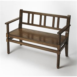 Butler Specialty Masterpiece Lofton Bench in Praline