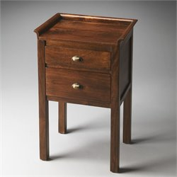 Butler Specialty Artifacts Gabriel 2 Drawer End Table in Solid Wood