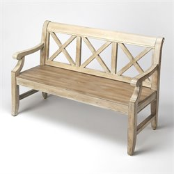 Butler Specialty Masterpiece Gerrit Bench in Driftwood