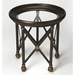 Butler Specialty Metalworks Richton Glass End Table in Metal