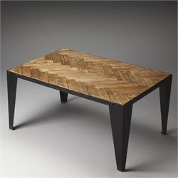 Butler Specialty Industrial Chic Tate Coffee Table in Wood and Iron