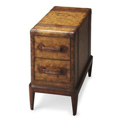 Butler Specialty Heritage Columbus End Table in Old World Map