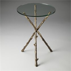 Butler Specialty Metalworks Alpine End Table in Glass And Metal