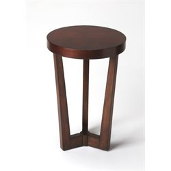 Butler Specialty Plantation Cherry Aphra End Table in Dark Brown