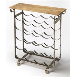 Butler Specialty Industrial Chic Landry Wine Rack in Industrial Chic