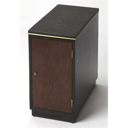 Butler Specialty Modern Expressions Onyx End Table in Leather
