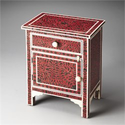 Butler Specialty Heritage Kayla End Table in Bone Inlay