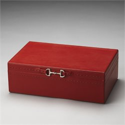 Butler Specialty Hors Doeuvres Ginger Jewelry Case in Orange Leather