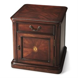 Butler Specialty Plantation Cherry Thayer End Table in Dark Brown