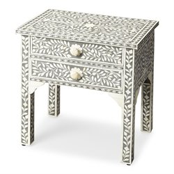 Butler Specialty Bone Inlay Vivienne End Table in Gray Bone Inlay