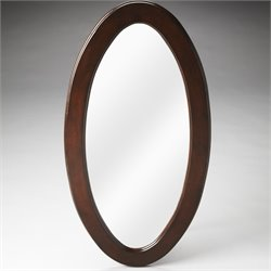 Butler Specialty Plantation Cherry Mozart Oval Mirror in Dark Brown