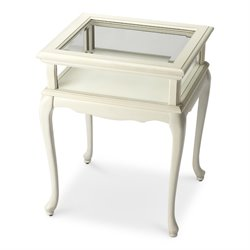 Butler Specialty Masterpiece Burton Curio Table in Cottage White