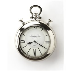 Butler Specialty Hors Doeuvres Meridian Wall Clock in Nickel