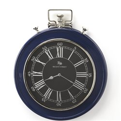 Butler Specialty Hors Doeuvres Sapphire Wall Clock in Blue