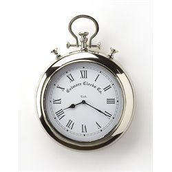 Butler Specialty Hors Doeuvres Exeter Wall Clock in Nickel