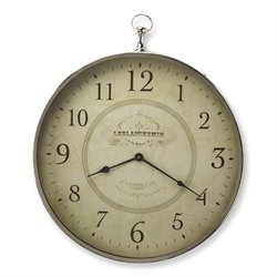 Butler Specialty Hors Doeuvres Le Blanc Wall Clock in Nickel