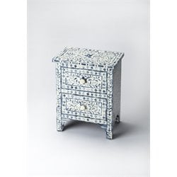 Butler Specialty Bone Inlay 2 Drawer Nightstand in Blue Bone Inlay