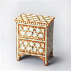 Butler Bone Inlay 2 Drawer Nightstand