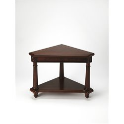 Butler Specialty Plantation Cherry Corner End Table in Dark Brown