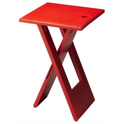 Butler Specialty Butler Loft Folding End Table in Red
