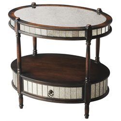 Butler Specialty Artists Originals Oval Accent Table in Mirrored Pecan