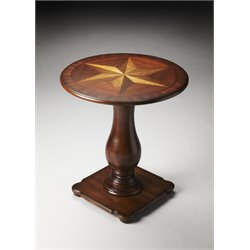 Butler Specialty Plantation Cherry Round Pedestal Table in Dark Brown