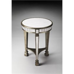 Butler Specialty Masterpiece Round Accent Table in Silver
