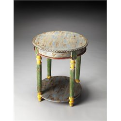 Butler Specialty Artifacts Round Accent Table in Artifacts