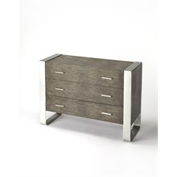Butler Specialty Cosmopolitan 3 Drawer Accent Chest in Gray