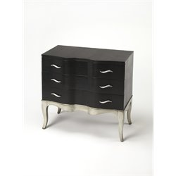 Butler Specialty Cosmopolitan 3 Drawer Accent Chest in Black