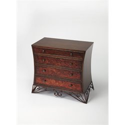 Butler Specialty Heritage 4 Drawer Accent Chest in Copper