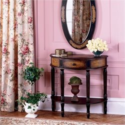 Butler Artists' Originals Demilune Console Table in Coffee