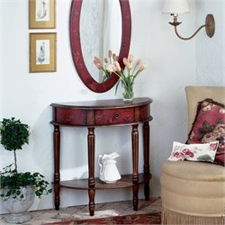 Butler Specialty Artists' Originals Demilune Console Table in Red Hand Painted Finish