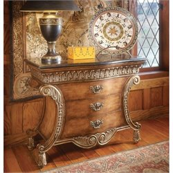 Butler Specialty Connoisseur's 3 Drawer Accent Chest with Fossil Stone Top