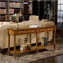 Butler Specialty Masterpiece Sofa/Console Table in Umber Finish