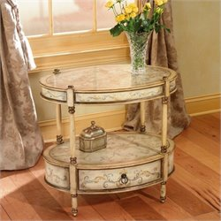 Butler Specialty Artists' Originals Oval Accent Table in Tuscan Cream