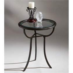 Butler Specialty Metalworks Accent Table in Olive Ash Burl Finish
