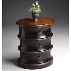 Butler Specialty Oval Drum Table in Café Noir Finish