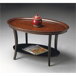 Butler Specialty Oval Cocktail Table in Café Noir Finish