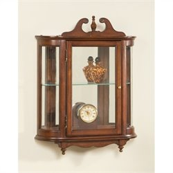 Butler Specialty Wall Curio in Plantation Cherry Finish