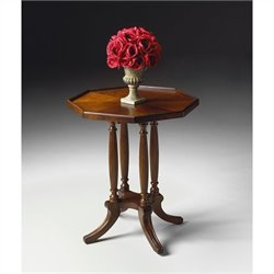 Butler Specialty Octagon Accent Table in Plantation Cherry