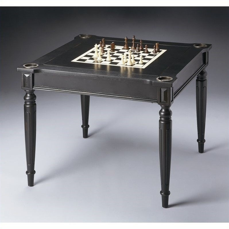 Butler Specialty Multi-Game Card Table in Black Licorice Finish