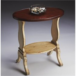 Butler Specialty Oval Accent Table in Vanilla & Cherry Finish