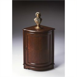 Butler Specialty Corner Cabinet in Plantation Cherry Finish