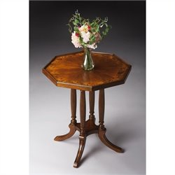 Butler Specialty Octagon Accent Table in Olive Ash Burl