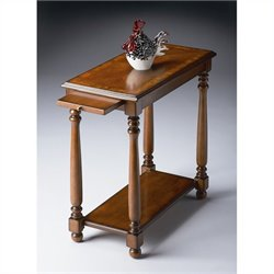 Butler Specialty Chairside Table in Olive Ash Burl