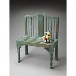 Butler Specialty Heritage Roseland Blue Solid Wood Bench